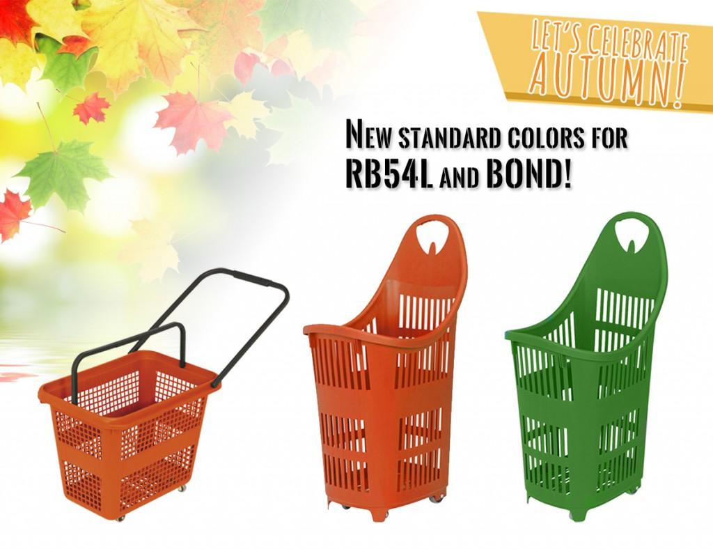 Añadimos nuevos colores estándar para BOND y RB54L!