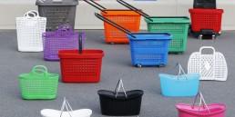 cestas de la compra decoradas