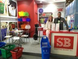 feira apas expositor cesttinhas plastico supermercados image