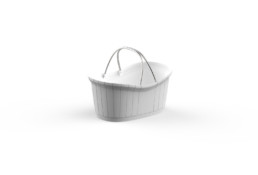 Shopping Basket Delux White ort